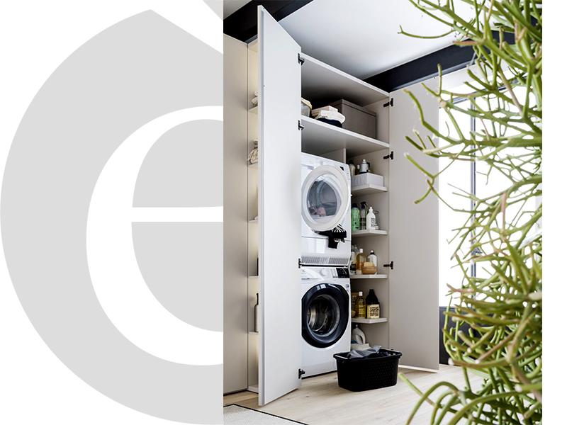 Il mobile lavanderia by Caccaro. LAMA è Sistema Freedhome per idee salvaspazio!