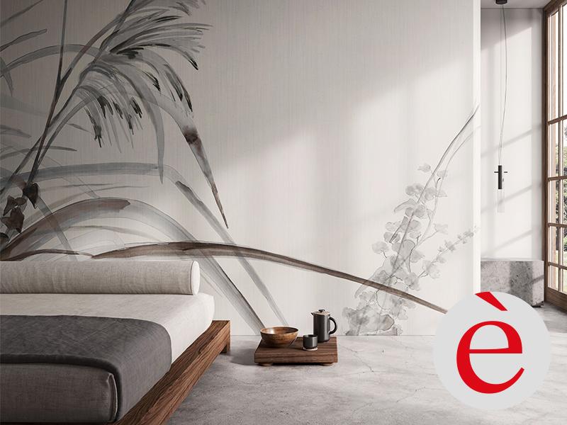LAMA Design è Ambienti sani con Carta da parati GlamPure